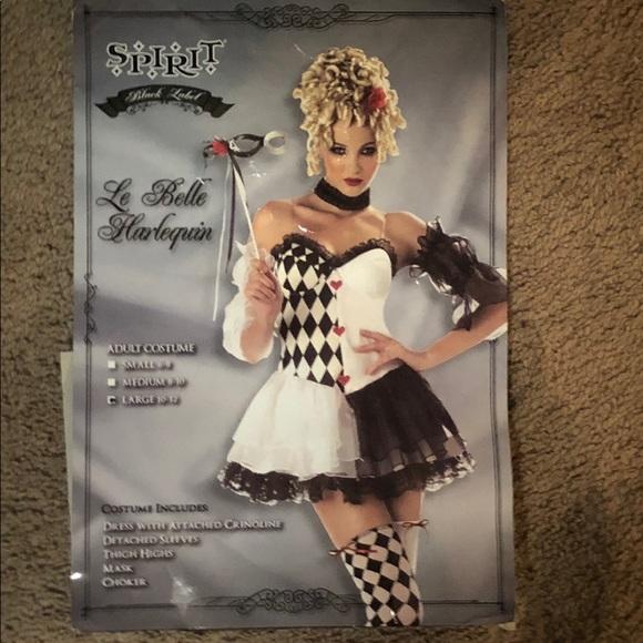 belle adult Le costume harlequin